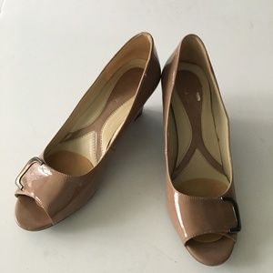 Naturalizer Riddle Wedge Open Toe Heel Worn Once